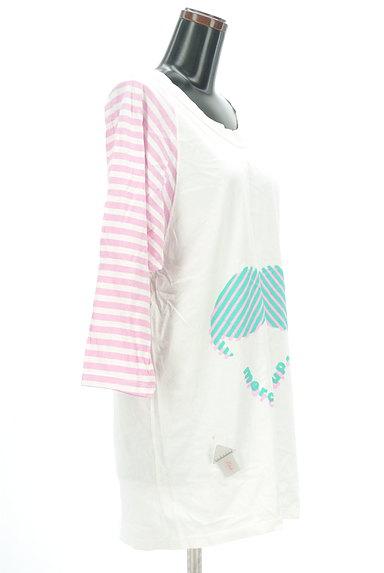 mercibeaucoup(メルシーボークー)の古着「袖ボーダーカットソーワンピース(ワンピース・チュニック)」大画像4へ
