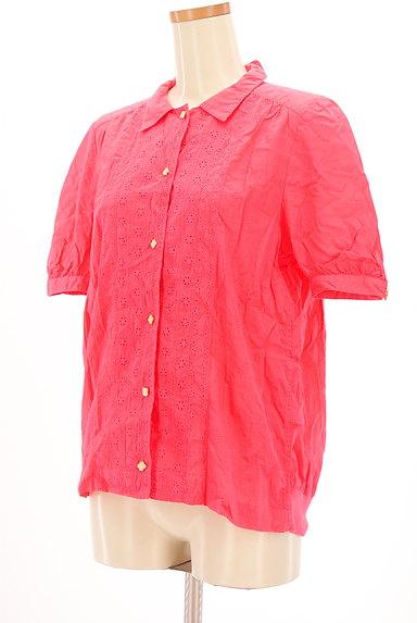 mercibeaucoup(メルシーボークー)の古着「刺繍カットワークカラーシャツ(カジュアルシャツ)」大画像3へ