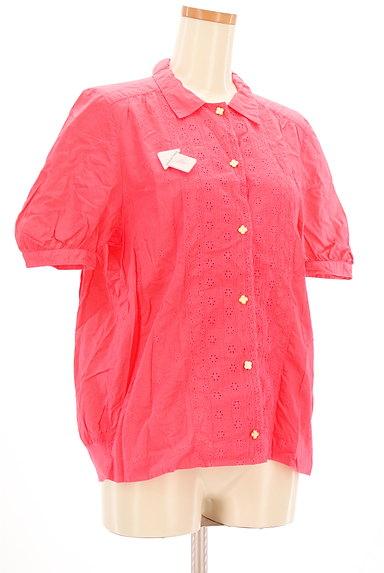 mercibeaucoup(メルシーボークー)の古着「刺繍カットワークカラーシャツ(カジュアルシャツ)」大画像4へ