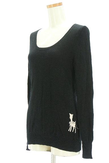 Franche lippee(フランシュリッペ)の古着「刺繍ポイントニットソー(ニット)」大画像3へ