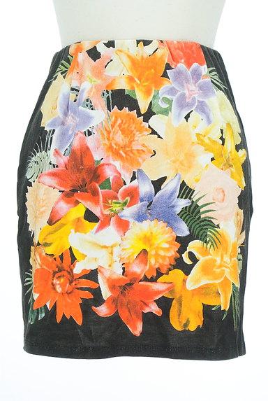 rienda(リエンダ)の古着「カラー花柄タイトミニスカート(ミニスカート)」大画像1へ