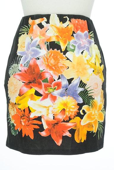 rienda(リエンダ)の古着「カラー花柄タイトミニスカート(ミニスカート)」大画像2へ