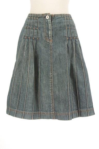 BURBERRY(バーバリー)の古着「膝上タックデニムスカート(スカート)」大画像1へ