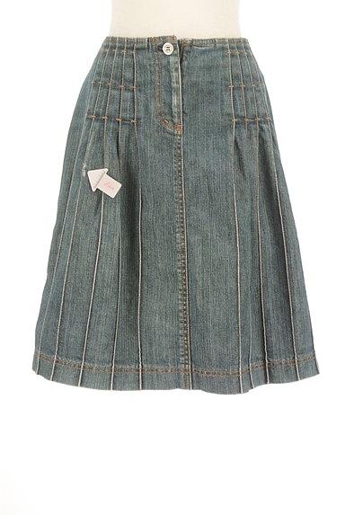 BURBERRY(バーバリー)の古着「膝上タックデニムスカート(スカート)」大画像4へ