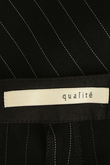 qualite(カリテ)の古着「ストライプ柄ガウチョパンツ(パンツ)」大画像6へ