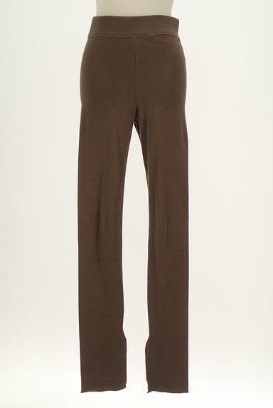 BLACK BY MOUSSY(ブラックバイマウジー)の古着「裾スリットリブレギンス(パンツ)」大画像1へ