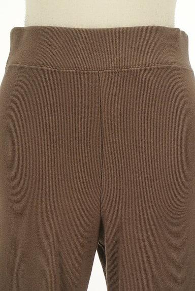 BLACK BY MOUSSY(ブラックバイマウジー)の古着「裾スリットリブレギンス(パンツ)」大画像4へ