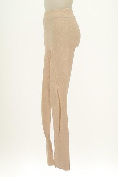 BLACK BY MOUSSY(ブラックバイマウジー)の古着「裾スリットリブレギンス(パンツ)」大画像3へ