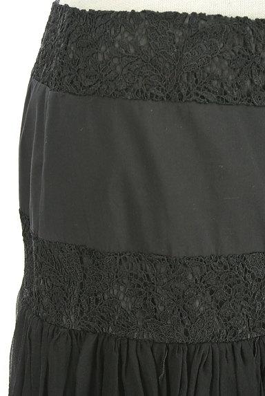 Blumarine(ブルマリン)の古着「刺繍レースシアースカート(スカート)」大画像4へ