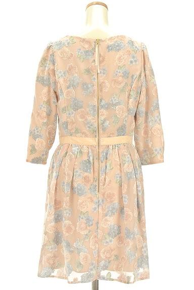 LAISSE PASSE(レッセパッセ)の古着「ベロア花柄シアーワンピース(ワンピース・チュニック)」大画像2へ