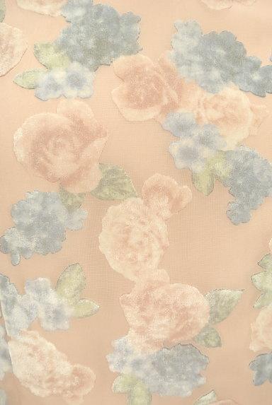 LAISSE PASSE(レッセパッセ)の古着「ベロア花柄シアーワンピース(ワンピース・チュニック)」大画像4へ