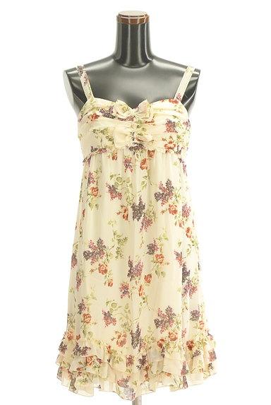 LAISSE PASSE(レッセパッセ)の古着「花柄シフォンワンピース(ワンピース・チュニック)」大画像1へ