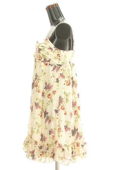LAISSE PASSE(レッセパッセ)の古着「花柄シフォンワンピース(ワンピース・チュニック)」大画像3へ