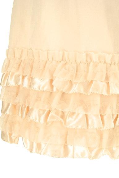 LAISSE PASSE(レッセパッセ)の古着「裾フリルサテンスカート(ミニスカート)」大画像4へ