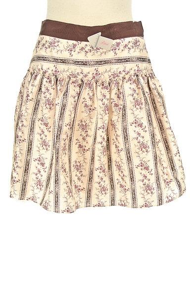 LAISSE PASSE(レッセパッセ)の古着「小花柄フレアミニスカート(ミニスカート)」大画像4へ