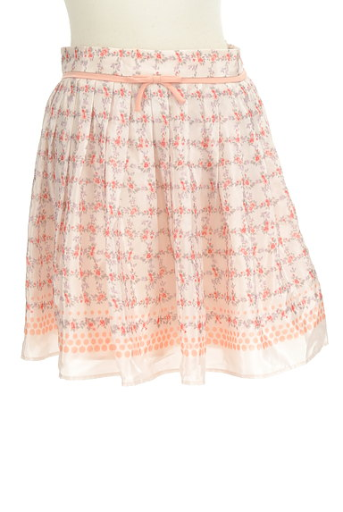 LAISSE PASSE(レッセパッセ)の古着「花柄リボンミニスカート(ミニスカート)」大画像1へ