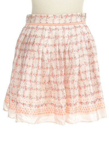 LAISSE PASSE(レッセパッセ)の古着「花柄リボンミニスカート(ミニスカート)」大画像2へ