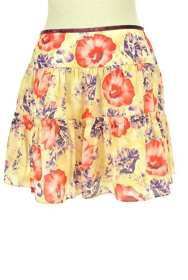LAISSE PASSE(レッセパッセ)の古着「花柄フレアサテンミニスカート(ミニスカート)」大画像2へ