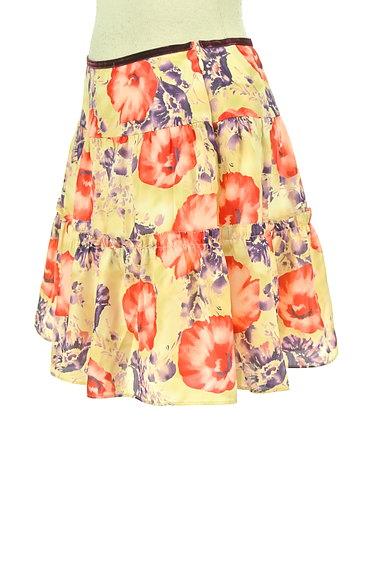 LAISSE PASSE(レッセパッセ)の古着「花柄フレアサテンミニスカート(ミニスカート)」大画像3へ