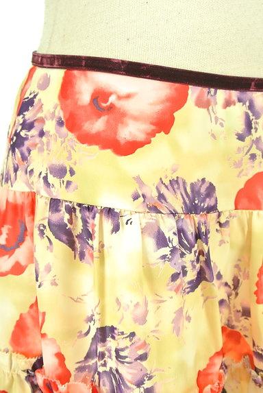LAISSE PASSE(レッセパッセ)の古着「花柄フレアサテンミニスカート(ミニスカート)」大画像4へ