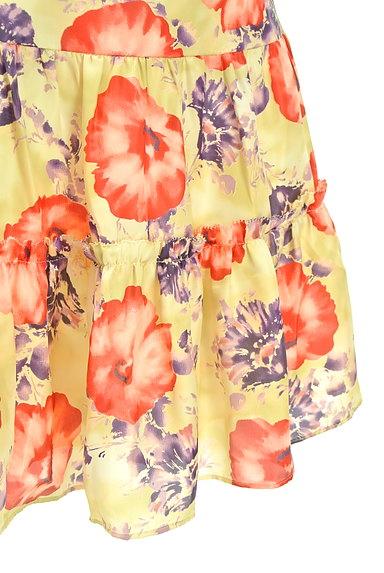 LAISSE PASSE(レッセパッセ)の古着「花柄フレアサテンミニスカート(ミニスカート)」大画像5へ