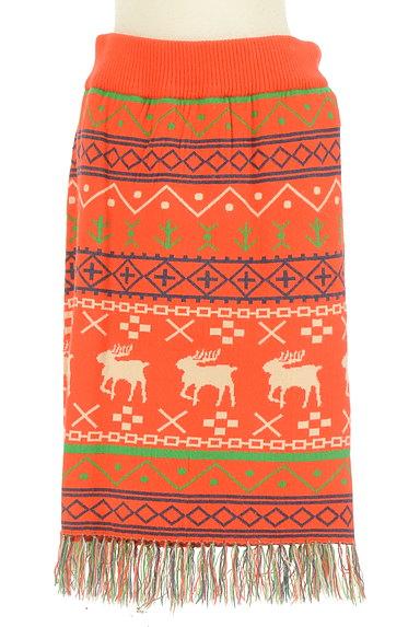 RODEO CROWNS(ロデオクラウン)の古着「ノルディック柄フリンジニットスカート(スカート)」大画像1へ