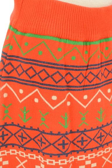 RODEO CROWNS(ロデオクラウン)の古着「ノルディック柄フリンジニットスカート(スカート)」大画像5へ