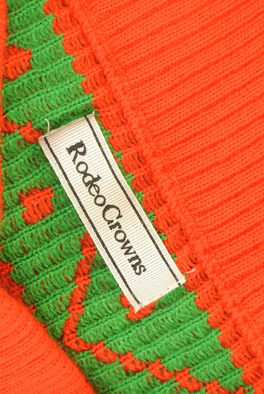 RODEO CROWNS(ロデオクラウン)の古着「ノルディック柄フリンジニットスカート(スカート)」大画像6へ