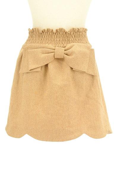 WILLSELECTION(ウィルセレクション)の古着「ビッグリボンスカラップスカート(ミニスカート)」大画像2へ