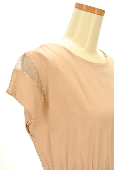 carolinaglaser(カロリナグレイサー)の古着「シースルーフレンチ袖ワンピース(ワンピース・チュニック)」大画像4へ