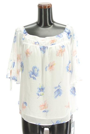 Rirandture(リランドチュール)の古着「花柄シフォン5分袖カットソー(カットソー・プルオーバー)」大画像1へ