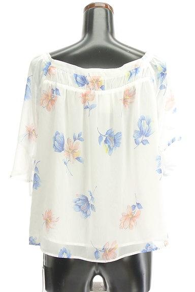 Rirandture(リランドチュール)の古着「花柄シフォン5分袖カットソー(カットソー・プルオーバー)」大画像2へ