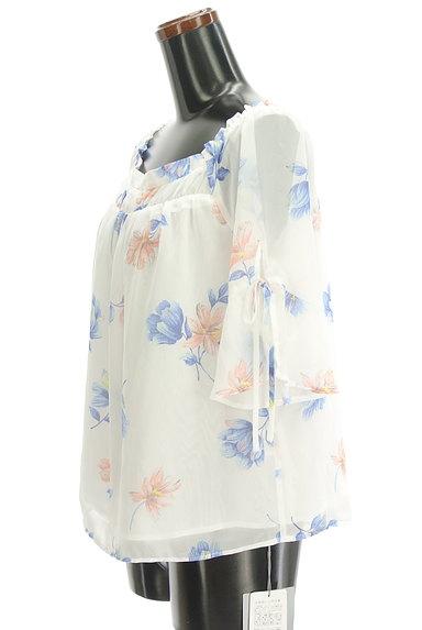 Rirandture(リランドチュール)の古着「花柄シフォン5分袖カットソー(カットソー・プルオーバー)」大画像3へ