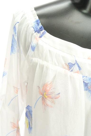 Rirandture(リランドチュール)の古着「花柄シフォン5分袖カットソー(カットソー・プルオーバー)」大画像4へ