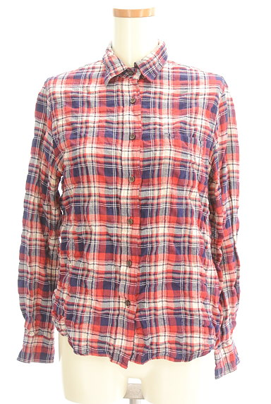 URBAN RESEARCH(アーバンリサーチ)の古着「シワ加工カジュアルチェックシャツ(カジュアルシャツ)」大画像1へ