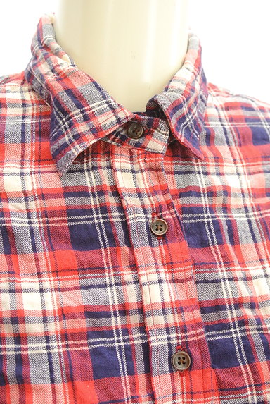 URBAN RESEARCH(アーバンリサーチ)の古着「シワ加工カジュアルチェックシャツ(カジュアルシャツ)」大画像4へ