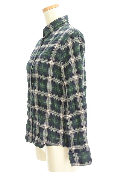 URBAN RESEARCH(アーバンリサーチ)の古着「シワ加工チェック柄シャツ(カジュアルシャツ)」大画像3へ