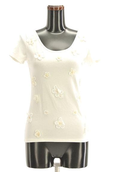 Cynthia Rowley(シンシアローリー)の古着「花刺繍モチーフ付きTシャツ(カットソー・プルオーバー)」大画像1へ