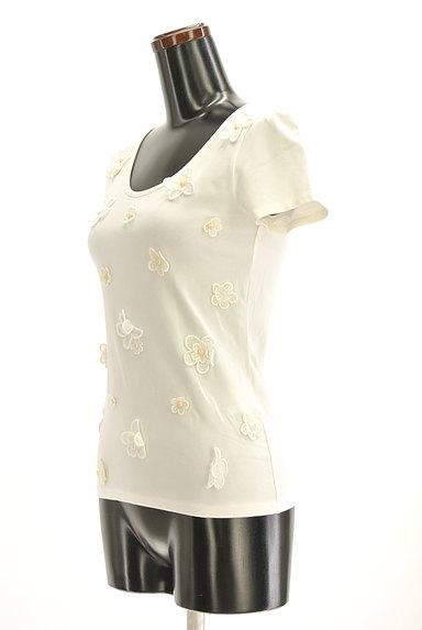 Cynthia Rowley(シンシアローリー)の古着「花刺繍モチーフ付きTシャツ(カットソー・プルオーバー)」大画像3へ