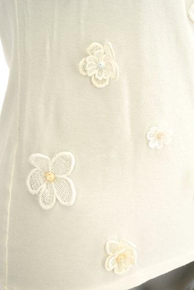 Cynthia Rowley(シンシアローリー)の古着「花刺繍モチーフ付きTシャツ(カットソー・プルオーバー)」大画像5へ