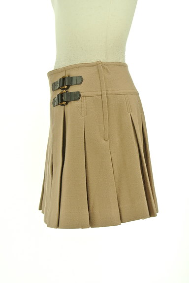 BURBERRY BLUE LABEL(バーバリーブルーレーベル)の古着「ベルトデザインボックスプリーツスカート(ミニスカート)」大画像3へ