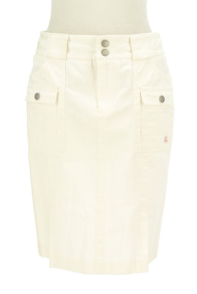 BURBERRY BLUE LABEL(バーバリーブルーレーベル)の古着「大人ホワイトデニムひざ上丈スカート(スカート)」大画像1へ