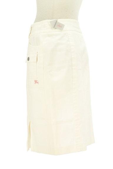 BURBERRY BLUE LABEL(バーバリーブルーレーベル)の古着「大人ホワイトデニムひざ上丈スカート(スカート)」大画像4へ