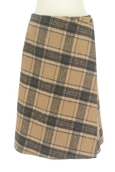 Te chichi(テチチ)の古着「チェック×無地リバーシブル巻きスカート(スカート)」大画像1へ