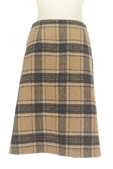 Te chichi(テチチ)の古着「チェック×無地リバーシブル巻きスカート(スカート)」大画像2へ