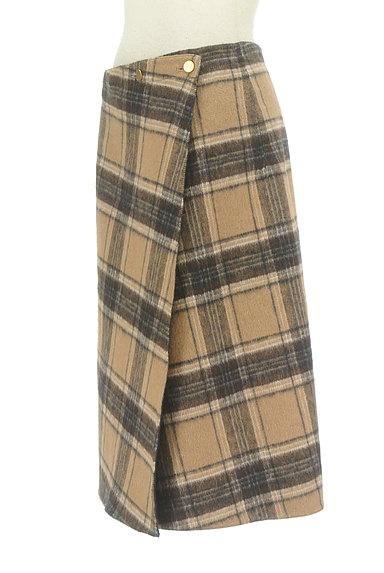 Te chichi(テチチ)の古着「チェック×無地リバーシブル巻きスカート(スカート)」大画像3へ