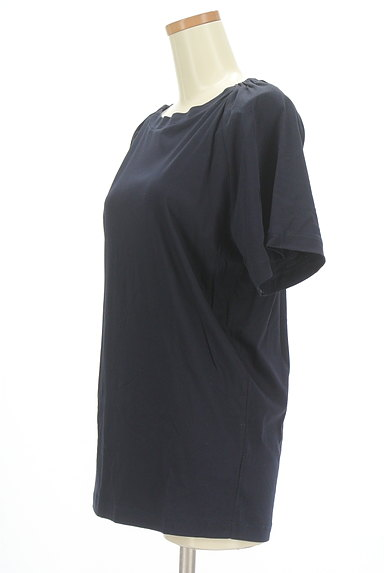 MOUSSY(マウジー)の古着「ロング丈シンプルカットソー(Tシャツ)」大画像3へ