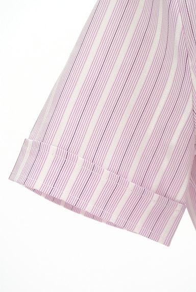 NARA CAMICIE(ナラカミーチェ)の古着「ストライプ柄フリルブラウス(ブラウス)」大画像5へ
