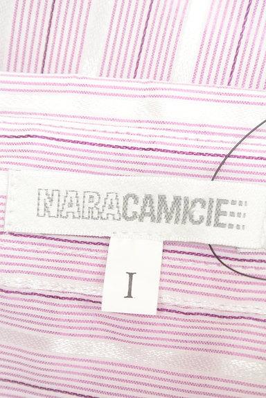NARA CAMICIE(ナラカミーチェ)の古着「ストライプ柄フリルブラウス(ブラウス)」大画像6へ
