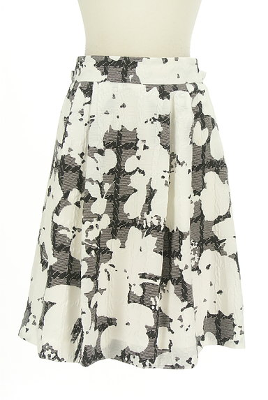NARA CAMICIE(ナラカミーチェ)の古着「ミディ丈モノトーン花柄スカート(スカート)」大画像1へ
